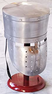 Vintage Armour Store Medieval Collectible Knight Armor Helmet Reenactment Larp Costume Crusader Helmet