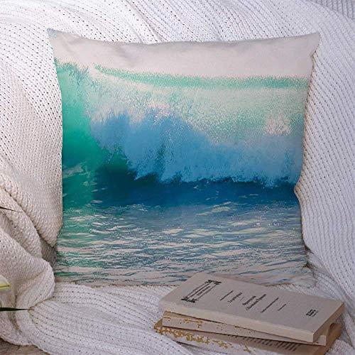 N\A Dekorative Kissenbezüge für Schlafsofa Couch Big Sky Down Breaking Ocean Crash Blue Wave Naturabenteuer Atlantic Bali Barrel Beach Schöner weicher Kissenbezug