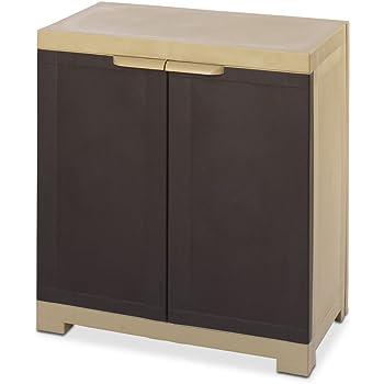 Nilkamal Freedom Mini Small (FMS) Plastic Storage Cabinet (Weathered Brown & Biscuit)