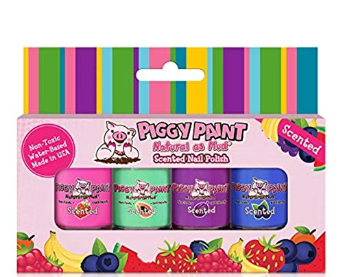 Piggy Paint Scented 100% Non-Toxic Girls Nail Polish - Safe,...