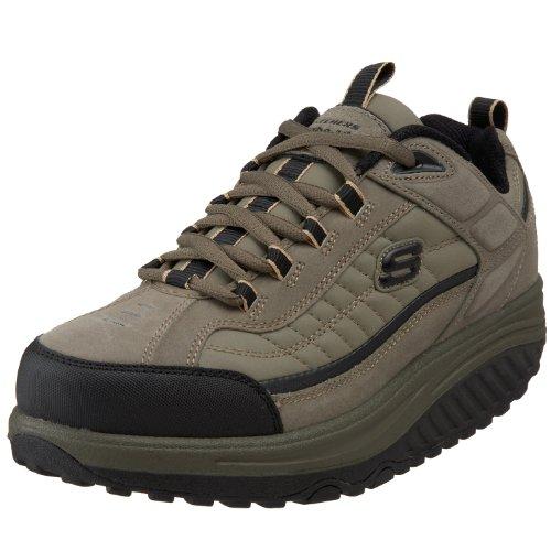 Skechers Shape Ups - Zapatillas de Cuero para Hombre, Color Verde, Talla 39.5