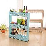 ELECTROPRIME Multi Tier Shelves Kitchen Bathroom Refrigerator Slot Storage Wheel Cleaning European Direct