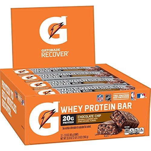 ゲータレード ホエイプロテインバー 80g 並行輸入品 (チョコレートチップ, 12個セット)