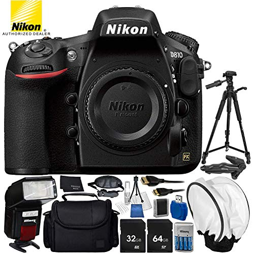 Nikon D810 DSLR (Body Only) 14PC Accessory Bundle - Includes 64GB SD...