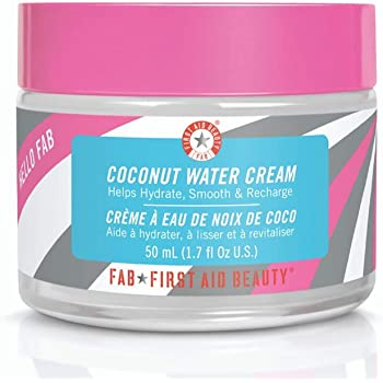 First Aid Beauty Hello FAB Coconut Water Cream: Oil Free Moisturizer for Soft Skin. Use on Face and Body for Perfectly Hydrated Skin (1.7 oz)