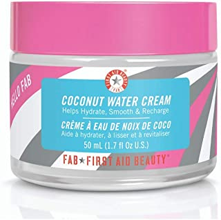 First Aid Beauty Hello FAB Coconut Water Cream: Oil Free Moisturizer for Soft Skin. Use on Face and Body for Perfectly Hyd...