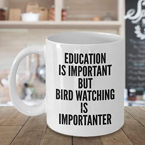 N\A Divertida Taza de café de observación de Aves Regalos Atractivos para los Amantes de la observación de Aves Único, Genial, Lindo, Humor, Sarcasmo, turistas, Idea de Regalo para aventureros