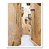 Wee Blue Coo Mdina Malta Historic Narrow Back Street Art
