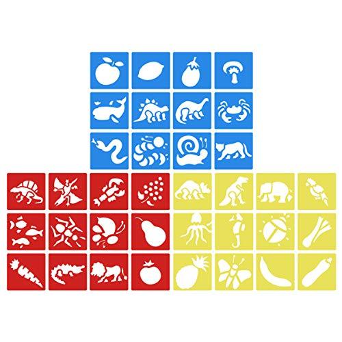 NUOBESTY Plantilla de Pintura de Artesanía de Plantilla de Dibujo de Plantilla de 36 Piezas para Diario Cuaderno Diario de Recortes Diy (Estilo Mixto)