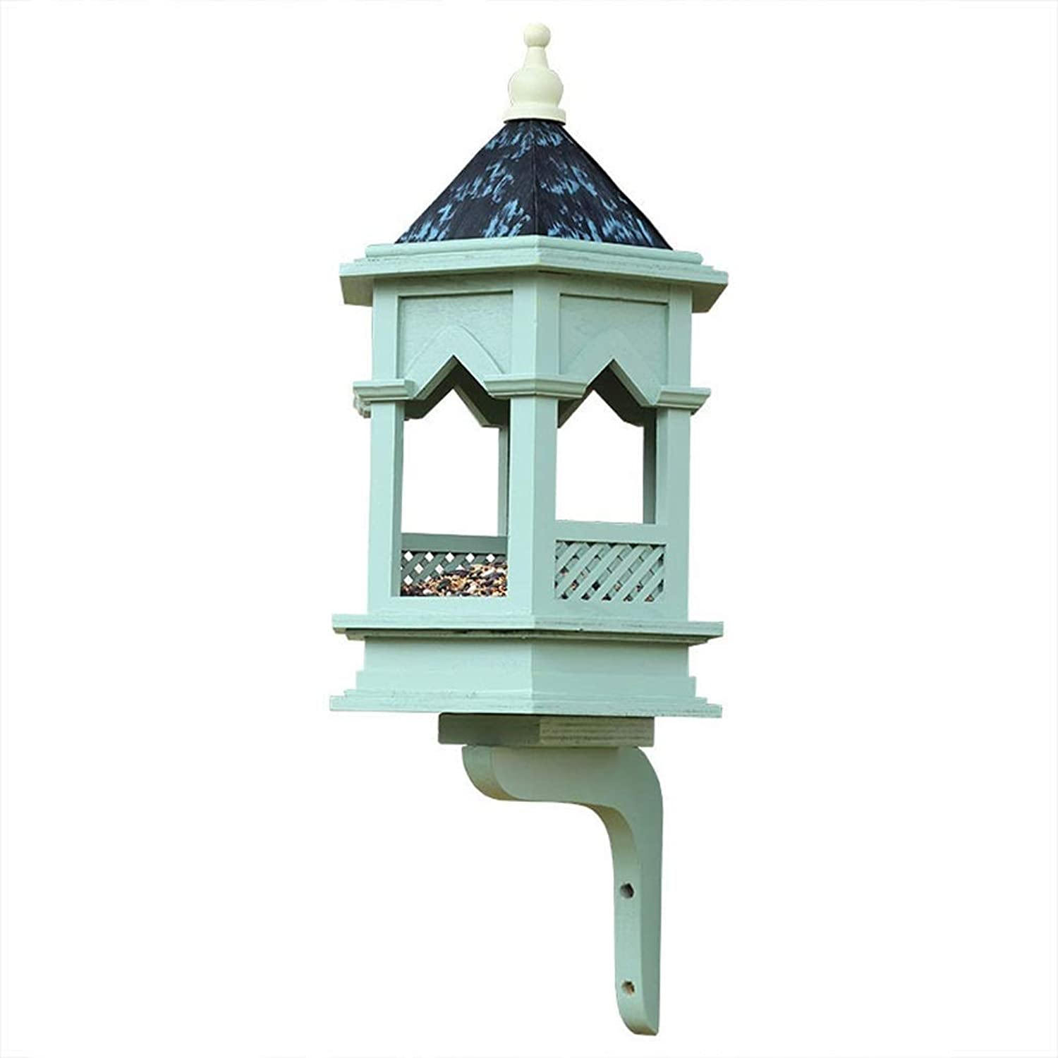 Feeder Bird Feeding Station Classical Gothic Bird, Bird Pavilion Rain Feeding Table Landscape Gardening