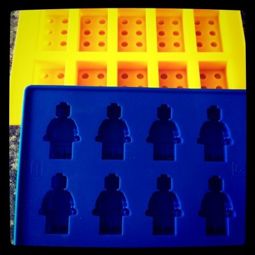 Purchase Building Bricks and Minifigure Ice Cube Tray or Candy Mold --for Lego lovers, Garden, Lawn,...