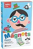 APLI Kids - Caras Juego Magntico, Color Multicolor, 14561