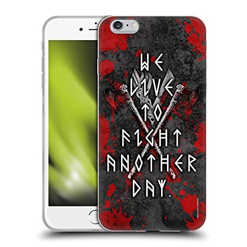 Head Case Designs Licenza Ufficiale Vikings Combatti Un Altro Giorno Loghi E Simboli Cover in Morbido Gel Compatibile con Apple iPhone 6 Plus/iPhone 6s Plus