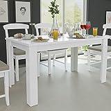 Fesjoy Table de Salle à Manger Blanche Table de Salle à Manger Simplicity Table...