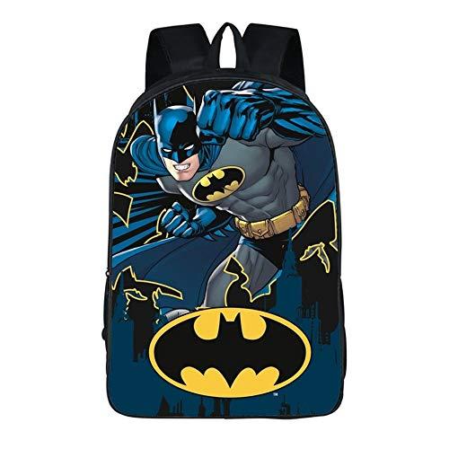 Zaino Batman, stampa 3D, alta capacità, con jack per cuffie, tracolla regolabile, adatto per scuola elementare, asilo (scuola elementare)