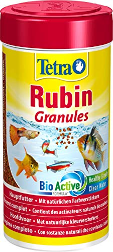 Tetra Rubin Granules Mangime Completo per Una colorazione intensa, 250 ml