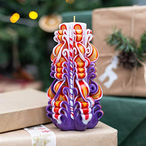Handgeschnitzte Kerze Dekoration für Geschenke und Chanukka Überraschung und Havdalah Kerze