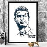 UIOLK Cuadro en Lienzo HD, póster de Cristiano Ronaldo, Lienzo de fútbol, Imagen artística, decoración, Aniversario, Regalo de cumpleaños