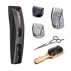 - 51Jh6zQSUhL - Remington MB4045B The Beardsman, Beard Boss Full Beard Trimmer Kit, Precise Detail Groomer 6 pieces, Platinum