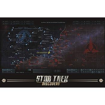 Star Trek Discovery Communicator Blueprint 2 Matted Framed Poster 20x26 inch