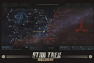 Pyramid America Star Trek Discovery Map Cool Wall Decor Art Print Poster 24x36