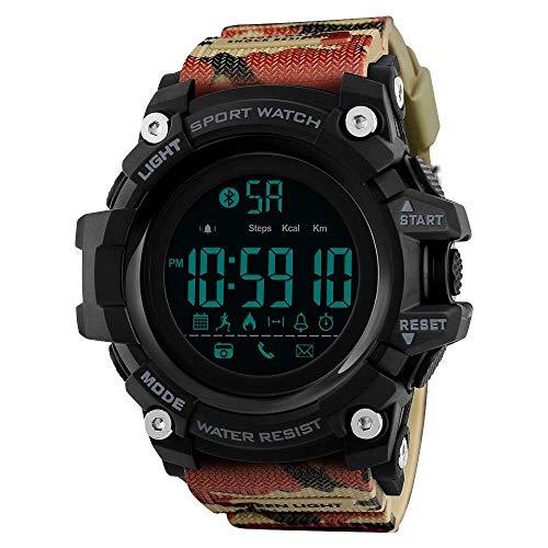 GYR Nuevo Reloj Inteligente Bluetooth actualizado, Reloj recordatorio de Pasos multifunción para Deportes al Aire Libre Compatible con Reloj electrónico iOS Android gfh