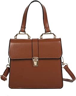 Handbag For Women Top-Handle Bag Leather Simple Square Shoulder Bag