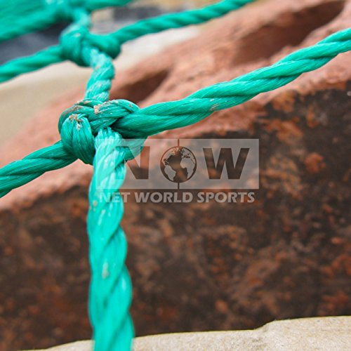 Net World Sports Super Heavy Duty Trailer/Truck/Cargo Nets [5 Sizes] – Industrial Strength HDPE Skip Netting [Green] (15ft x 9ft)