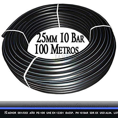 100 m PE 100 HD Rohr 3/4 Zoll 25 x 2 mm PN10 flexible HDPE/Wasserleitung/Trinkwasserleitung/Wasserleitungsrohr/Bewässerungsrohr