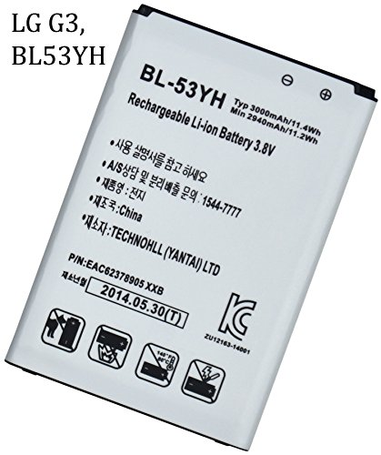 BasTex Rechargeable 3000mAh Li-ion Battery for LG G3 OPTIMUS