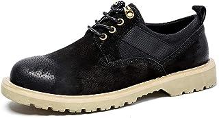 أحذية أكسفورد للرجال السلامة العمل المضادة للانزلاق منخفضة الأعلى أحذية سحب على نمط جلد الغزال الرباط أعلى ركوب المشي أحذي...