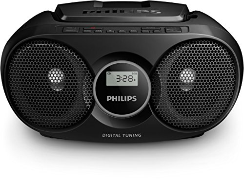 Philips Soundmachine AZ318B/12 CD-Soundmachine (Dynamic Bass Boost, USB Direct, MP3-CD, Digitaler UKW-Tuner) schwarz