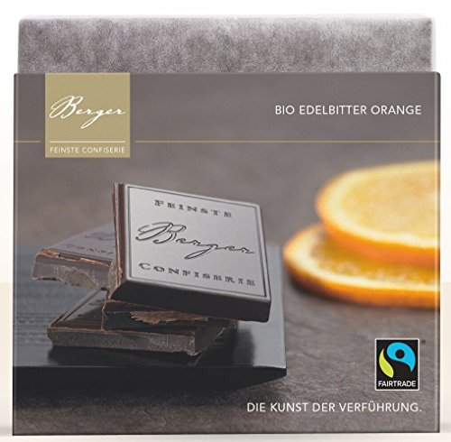 Berger Bio Edelbitter Schokolade mit Orange , 90 g