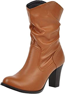 VulusValas Women Pull On Ankle Boots