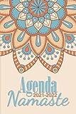 Agenda Mandala 2021 2022 Namaste: Agenda 2021 2022 Mandala à Colorier Semainier Illustré Personnalisable Planificateur Journalier Petit Format de ... Idée Cadeau Femme Fille Homme Hindou 03