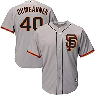 Genuine Stuff Madison Bumgarner San Francisco Giants MLB Majestic Youth Boys 8-20 Gray Road Cool Base Replica Jersey