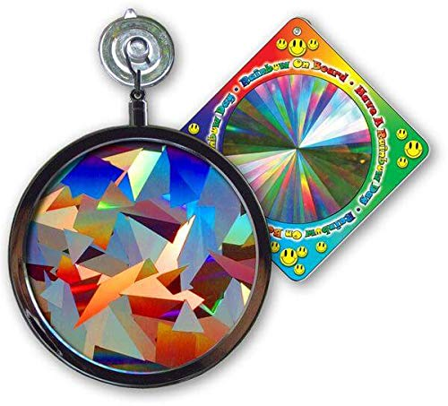 Suncatcher  Crystal Rainbow Window Sun Catcher  Includes a Bonus Rainbow on Board Sun Catcher