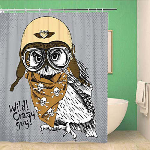Awowee decor douchegordijn Engels Tweed in koud grijs en zwart kleuren visgraat 152x180cm polyester stof waterdichte bad gordijnen Set met haken voor badkamer