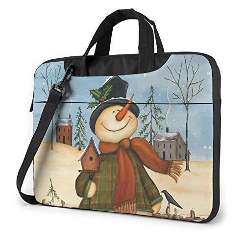 XCNGG Bolso de hombro Computer Bag Laptop Bag, Snowman Bird