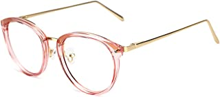 afce25f993ff TIJN Vintage Round Metal Optical Eyewear Non-prescription Eyeglasses Frame  for Women