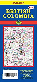 British Columbia, Canada Road Map