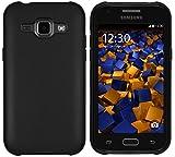 mumbi Funda Compatible con Samsung Galaxy J1 Caja del teléfono móvil, Negro