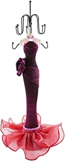 WE Doll Jewelry Stand Holder Mannequin Necklace Display Orgaziner Fuchsia Evening Gown Jewelry Stand 15 inches Quinceanera Centerpiece Birthday Gift