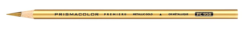 Prismacolor Premier Colored Pencil, Metallic Gold (3376)
