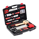 KingTool 87 Pc. Advanced Wood Chisel Set with Storage Case Including Superior Chisels | Heat-Treated Cr-V Alloy Blades Premium Chisel Set for Carpentry Craftsman