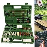 YNITJH Kit de Limpieza de Pistola Universal,Limpieza de Pistola de Tiro/Cepillos/Varilla Juego de Herramientas múltiples con Estuche,para Todas Las Armas de Caza Parches