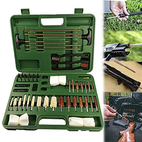 YNITJH Kit per Pulizia Armi,Premium Robusta Valigia Accessori Armi per la Manutenzione e la Pulizia delle Armi,Scatola Pulizia per Fucile,Set di Pulizia Pulizia Cura della Pistola