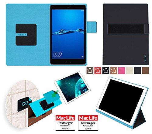reboon Hülle für Huawei MediaPad M3 Lite 8.0 Tasche Cover Case Bumper | in Schwarz | Testsieger