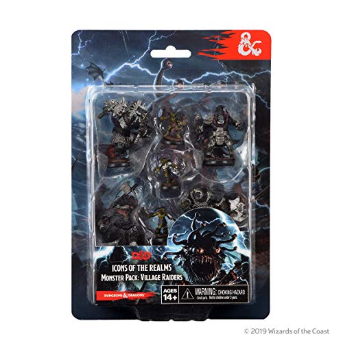 WizKids 72929 D&D Icons of The Realms: Monster Pack: Village Raiders