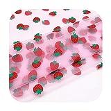 happy Tüllrolle: 100 x 150 cm, Erdbeere, Tüll Stoff für